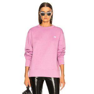 Acne Fairview Face Sweatshirt Lilac Purple Rare
